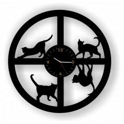 KOT OKRĄGŁY zegar