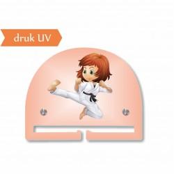 KARATE dziewczynka UV mały